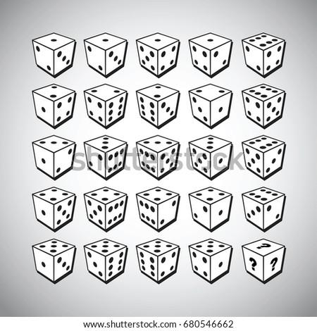 Noir classique jeu cubes isolé blanche Photo stock © evgeny89