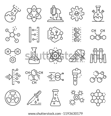 Set of chemical reaction equations and formulas on school blackboard Stock photo © evgeny89