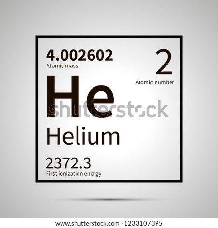 Helium chemical element with first ionization energy and atomic mass values ,simple black icon with  Stock photo © evgeny89