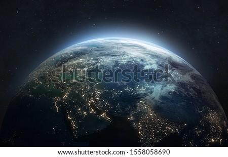 Aarde planeet ruimte heldere Stockfoto © evgeny89