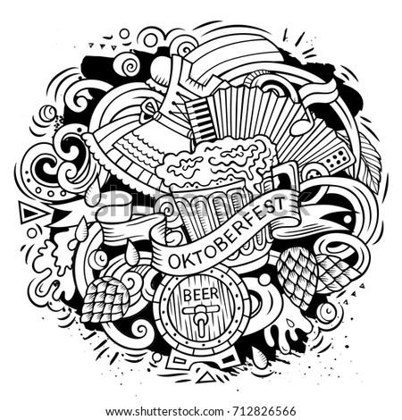 Cartoon вектора пива иллюстрация Октоберфест Сток-фото © balabolka
