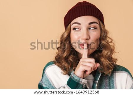 写真 かなり 楽しい 女性 沈黙 ストックフォト © deandrobot