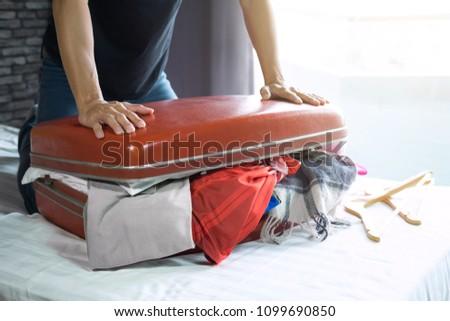 путешествия отпуск счастье молодым человеком одежды Сток-фото © Freedomz