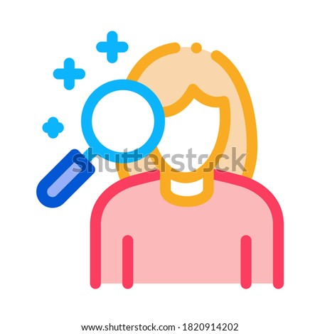 dermatological studies of women icon vector outline illustration Stock photo © pikepicture