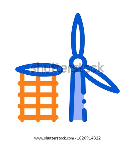 wing of windmill fell away icon vector outline illustration Stock photo © pikepicture