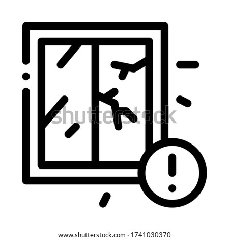 Agrietado ventana icono vector ilustración Foto stock © pikepicture