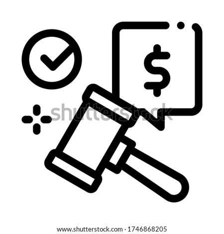 オークション ハンマー 販売 承認 アイコン ベクトル ストックフォト © pikepicture