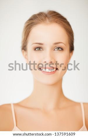 Atraente jovem europeu mulher macio saudável Foto stock © vkstudio