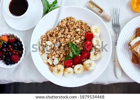 свежие ярко Континентальный завтрак таблице изобилие Сток-фото © Illia