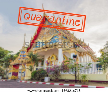 Quarantine due to coronavirus epidemic covid19 Buddhist temple Kek Lok Si in Penang, Malaysia, Georg Stock photo © galitskaya