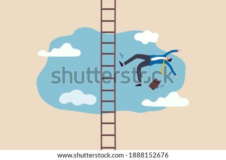 üzletember zuhan létra vállalati állás lépcsősor Stock fotó © Elnur