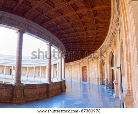 Palais galerie deuxième étage alhambra spa Photo stock © HASLOO