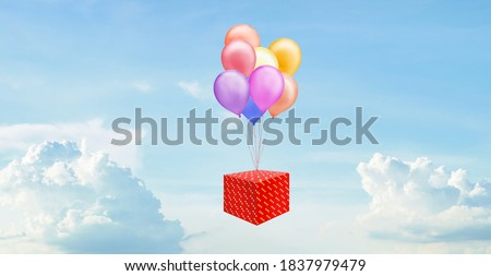 Multicolored Giftboxes  With Sky Background As Presents For The Stock photo © stuartmiles