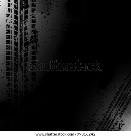 White silhouette of motorbike on black background. Vector illust Stock photo © leonido