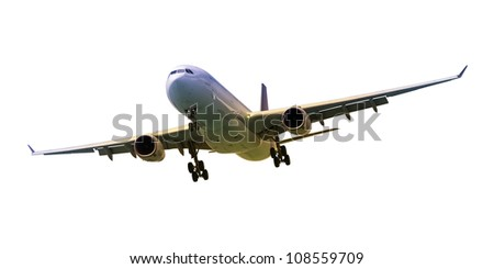Real jet aircraft, isolated on white. Good for sunset/sunrise sk Stock photo © moses