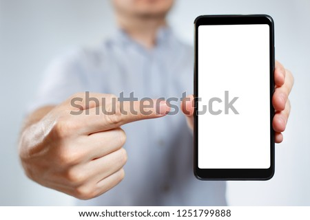 черный · смартфон · большой · экране · изолированный · белый - Сток-фото © Nobilior