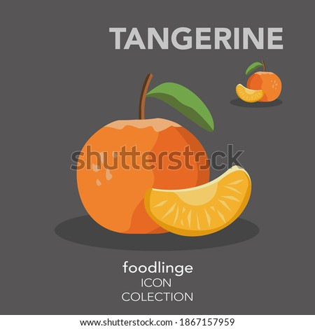 Half of mandarine tangerine with leaves on white with grey refle Stock photo © Escander81