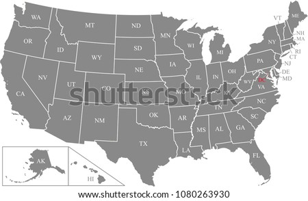 Map of States of the United States where South Carolina is pulled out Stock photo © Istanbul2009