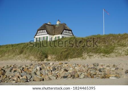 Casa bella spiaggia cielo estate Ocean Foto d'archivio © meinzahn