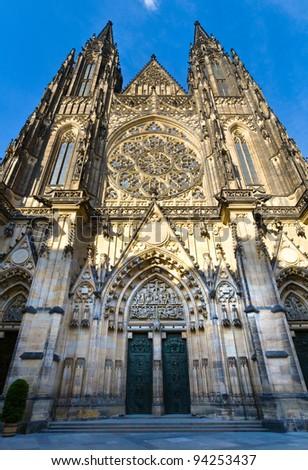Запад фасад собора Прага Чешская республика Сток-фото © bloodua