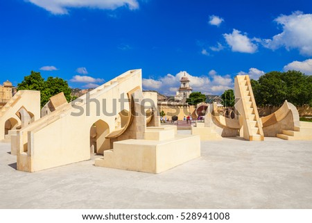 astronomical instrument at jantar mantar observatory   jaipur i stock photo © meinzahn