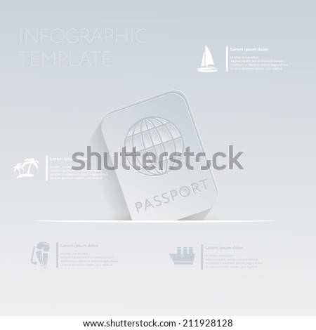 International passport  Theme holidays  Template infographic