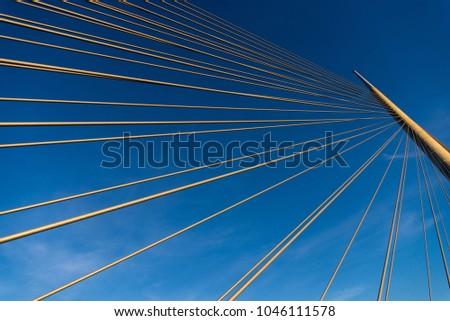 details of ada bridge tower in belgrade serbia stock photo © simply
