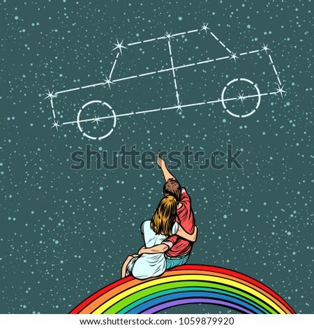 вектора комического Auto Lady знак изолированный Сток-фото © dashadima