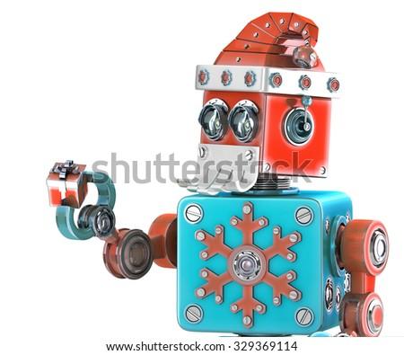 ロボット · クリスマス · 3dのレンダリング · 将来 · ギフト · 休日 - ストックフォト © kirill_m