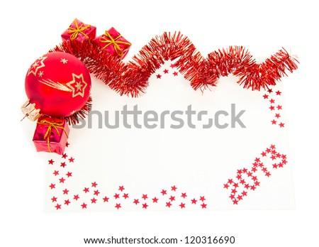 Alegre Navidad feliz año nuevo tarjeta pelota juguete Foto stock © rommeo79