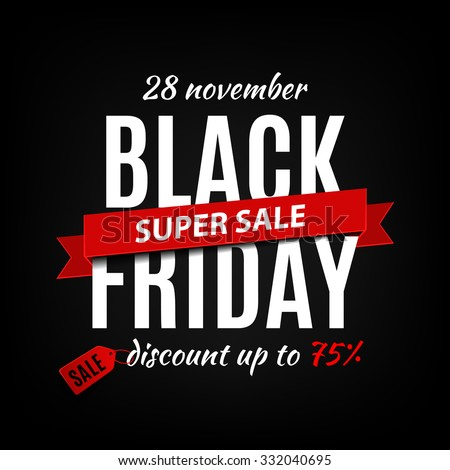 Black Friday sale inscription design template. Black Friday banner. Vector illustration stock photo © rommeo79