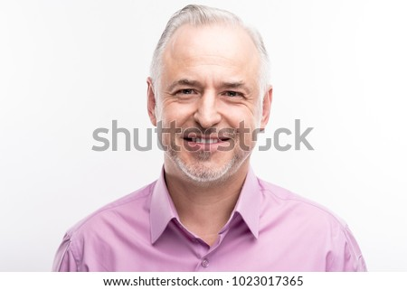 handsome senior male posing stock photo © stockyimages