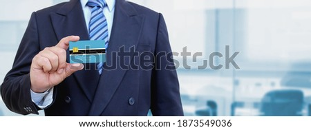 Stock photo: Credit card with Botswana flag background for bank, presentations and business. Isolated on white