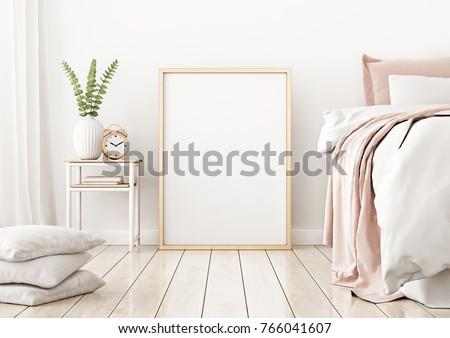 空っぽ · キャンバス · 白 · ホーム · インテリア · 装飾 - ストックフォト © manera