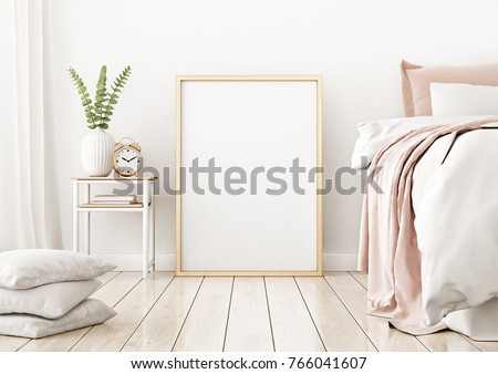 houten · slaapkamer · interieur · bed · bloem · hout - stockfoto © manera