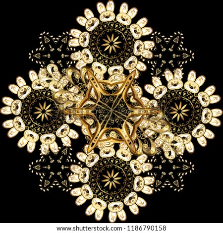Luxury golden damask wallpaper Stock photo © fresh_5265954