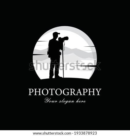 Silhouette of male landscape photographer capturing breathtaking Stock photo © stevanovicigor