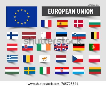 eu flag with finland country european union membership finland stock photo © tkacchuk