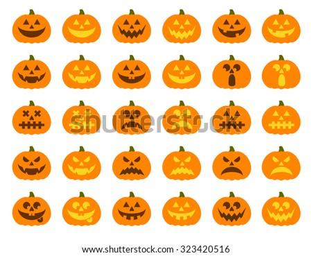 Halloween zucche vettore scary facce Foto d'archivio © RedKoala