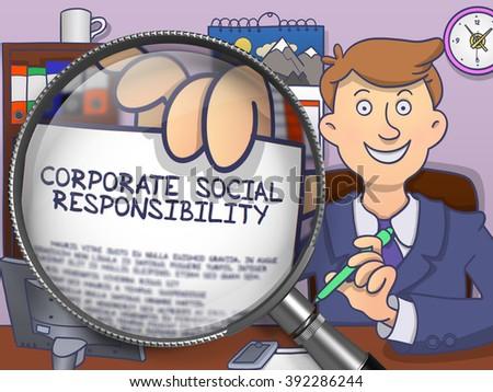 Korporacyjnych społecznej odpowiedzialność gryzmolić stylu Zdjęcia stock © tashatuvango