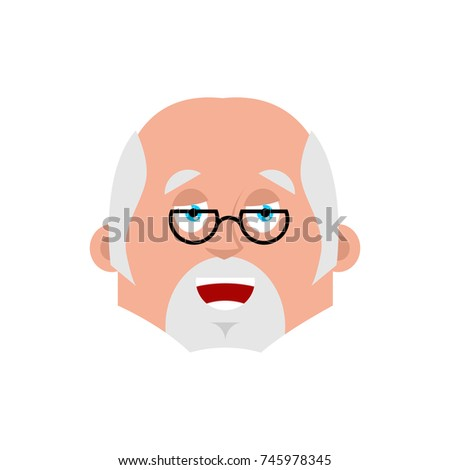 Doctor happy emotion avatar. Physician merry emoji. Vector illus Stock photo © popaukropa