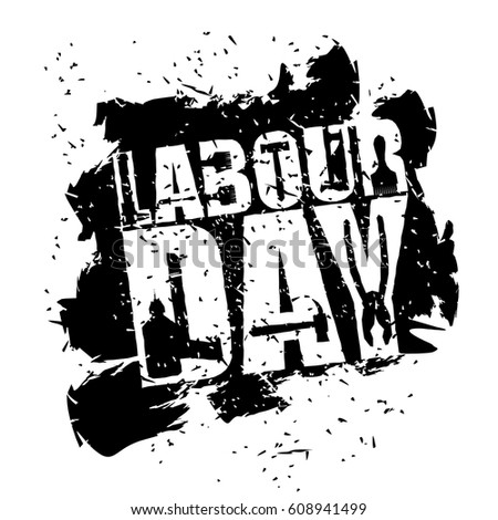 Labor Day emblem of grunge style. International Workers' Day log Stock photo © popaukropa