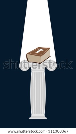Bijbel donkere goddelijk licht boek geschenk Stockfoto © popaukropa