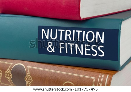Książki tytuł odżywianie fitness napisany kręgosłup Zdjęcia stock © Zerbor