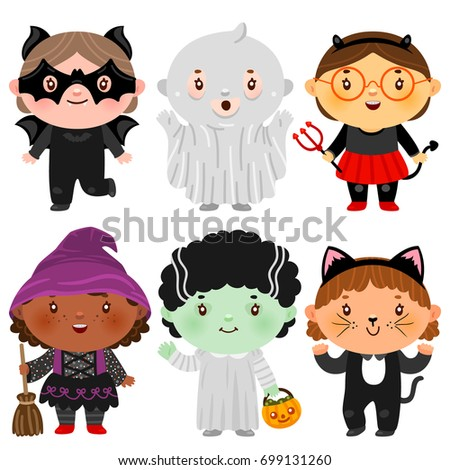 Stock photo: Witch African American with black cat. Halloween character. Skul