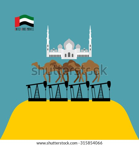 Saudi Arabia oil map. Silhouette of desert maps of oil rigs. Vec Stock photo © popaukropa