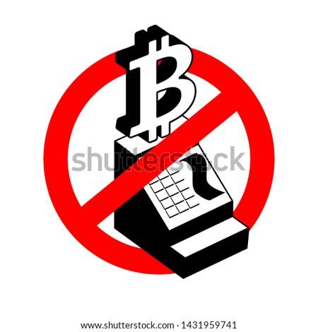 Stop számítás bitcoin tilalom pénztárgép piros Stock fotó © popaukropa