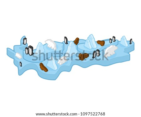 Antarctic Animal and plants. North Pole flora and fauna on mainl Stock photo © popaukropa