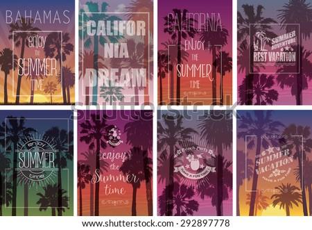 Vacances d'été tshirt design tropicales laisse fleur Photo stock © articular