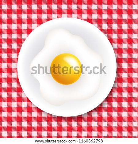 赤 白 テーブルクロス プレート 中心 ストックフォト © barbaliss